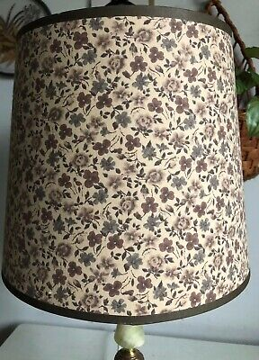 Vintage Drum LampShade Floral Flower Print Floor/Lamp Base Mid Century 70s • 22£