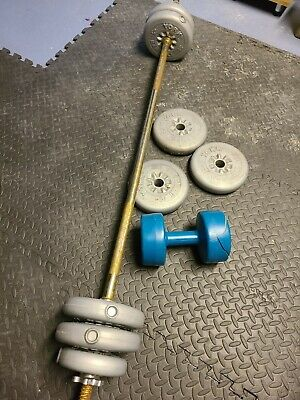 York Barbell And Dumbell Weights Weight Lifting Set  • 25.99£