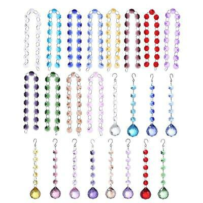 Crystal Glass Door String Tassel Curtain Beads String Hanging Pendant Chain • 5.38£