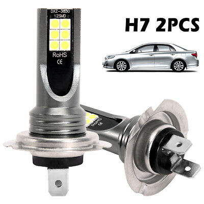 2x H7 200W Car LED Headlight Fog Bulbs CREE Kit 6000K HID Canbus Error Free • 6.99£