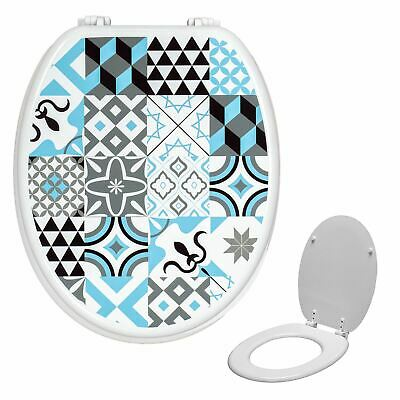 £24.99 • Buy Universal Novelty Patterned Design Toilet Sea Oval Shaped T & Fixings | Gorge