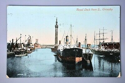 £3.50 • Buy R&L Postcard: Grimsby, Dock View, Ships, Valentine, Printed