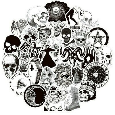 20 Unusual Gothic /  SKULL    Stickers Laptop / Walls / PC'S  Matt • 2.69£