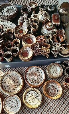 £13 • Buy Fosters Brown Honeycomb Cornish Studio Pottery Store Full Range From £3 A Piece