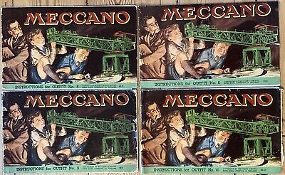 1940s And 1950s Meccano Manuals For Outfits 5, 6, 9 And 10. • 6.07£