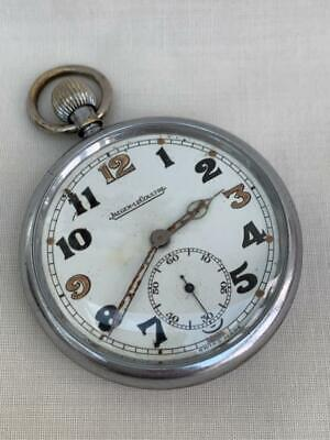 Good WWII Period Jaeger-LeCoultre Swiss Military Pocket Watch. • 135£