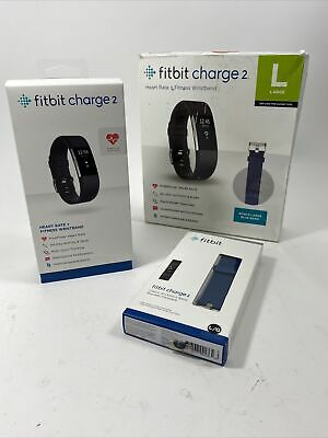 $ CDN46.71 • Buy Large Black Fitbit Charge 2 Fitness Activity Tracker + Extra Blue Band, FB407