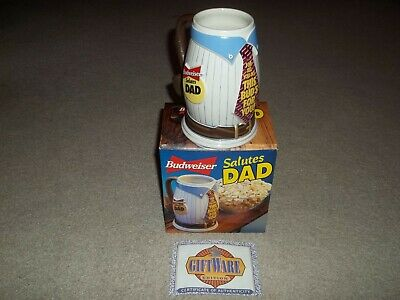 $ CDN24.31 • Buy Vintage Budweiser Salutes Dad 1996 This Bud's For You! Beer Stein W COA GiftWare
