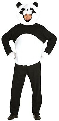 Mens Ladies Black White Giant Panda Animal Chinese Fancy Dress Costume Outfit  • 22.99£