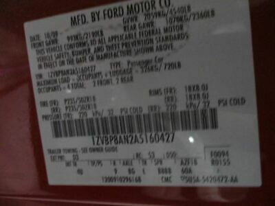 $474.99 • Buy Rear Axle 7.5  Ring Gear 3.31 Ratio With ABS Fits 05-10 MUSTANG 412171