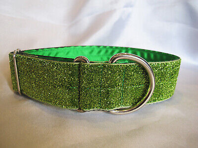 Greyhound/Lurcher/Saluki 1.5  Satin Lined Tinkerbell Cotton House Collar • 10£