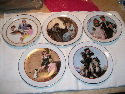 $ CDN6.47 • Buy Set Of 5 Norman Rockwell CW Special Edition Commemorative Plates
