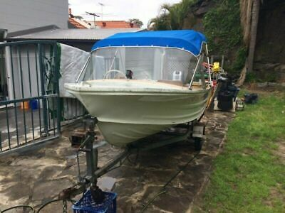 AU5000 • Buy Quintrex White Runabout Boat 14ft- Boat Trailer Registered For 12 Months