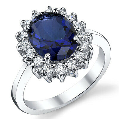 £17.96 • Buy Solid Sterling Silver Kate Middleton's Engagement Ring With Simulated Sapphire