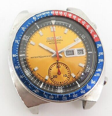$ CDN730.75 • Buy Vintage Seiko Pouge Chronograph Automatic Mens Steel Watch 6139-6002 $1 No Res