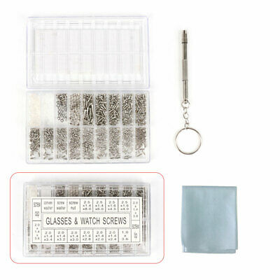 £4.85 • Buy 1000 X Small Screws Nut Electronics Assortment Set For Glasses Watch Cellphones
