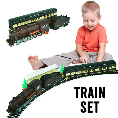 £15.50 • Buy Classic Battery Operated Train Set With Tracks Light Engine Children Kids Toy