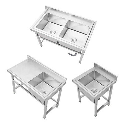 Commercial Kitchen Sink Free Standing Stainless Steel Catering Washing Pre Table • 225.95£