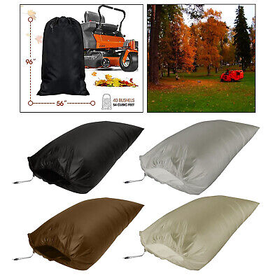 AU32.37 • Buy Lawn Tractor Leaf Bag 54 Cubic Foot Opening Garden Storage Pouch Reusable