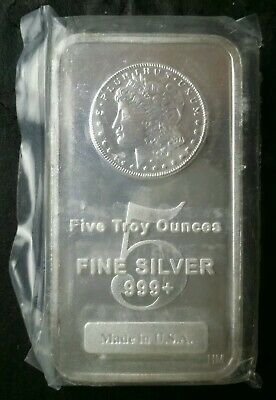 $ CDN186.55 • Buy 5oz Silver Morgan Bar In Plastic
