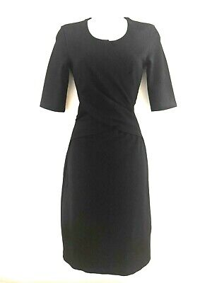 Ladies Stylish HOBBS Black Fitted Work/Occasion Dress With Stretch Size UK 8 • 12.95£