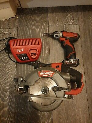 Milwaukee SET,  SAW, Impact Screw Driver, Charger, 4Ah Batterie • 150£