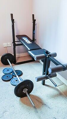 York Fitness Weight Bench Plus Weights • 41£