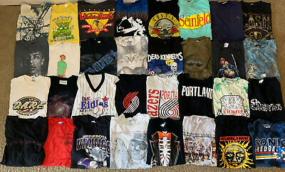 $ CDN15.03 • Buy VTG T-Shirt Lot (32) 80's 90's 00's Single Stitch 50 /50 Harley Davidson Various