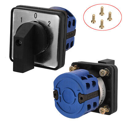 £7.30 • Buy LW26-20D 3 Positions On-Off-On Changeover Control Rotary Cam Switch 20A HS672·uk