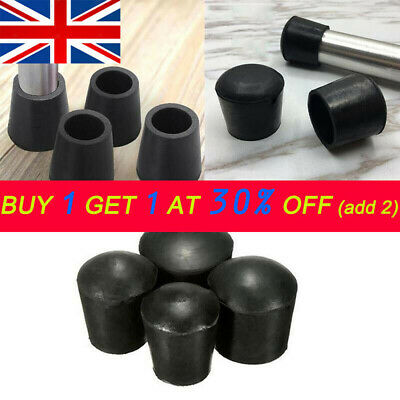 4X Chair Leg Cap Rubber Feet Protector Pads Furniture Table Cover Round Botto UK • 3.49£