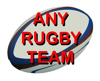 £6 • Buy Rugby Image Or Team Badge Edible Icing Cake Topper / Many Sizes