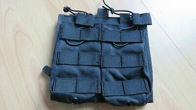Airsoft Double M4 Molle Mag Pouch With Internal Admin Panel - Good Condition • 3.99£