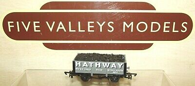 201120/05 Dapol Hathway Ryeford Stonehouse 7 Plank Open Wagon With Coal Load • 6.99£