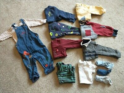 Boys Bundle 12-18 Months Includes Jumpers, Dungarees • 1.50£