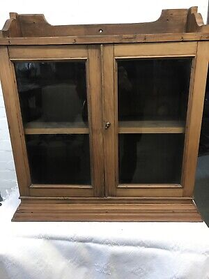 Antique Pine Old Bathroom Cabinet Cupboard Good Quality Wall Cabinet Farmhouse • 29.99£