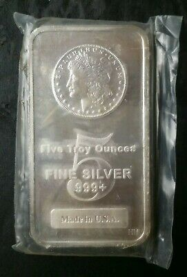 $ CDN173.46 • Buy 5oz Silver Bar In Plastic