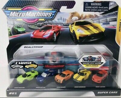 2020 Hasbro Micro Machines Series 1 #01 Super Cars Chase Pack Of 5 • 18.99£