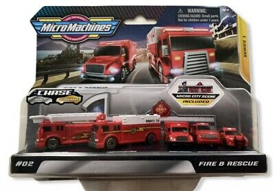 Micro Machines 2020 Fire & Rescue New Series 1 #02 Hasbro Chase Mini Toys • 14.99£