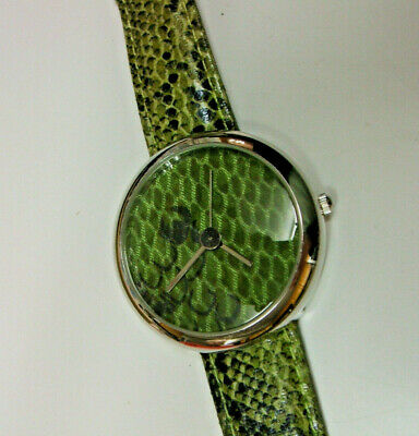 Anaii Pink Quartz Couture Watch - Stainless Steel - Green Snakeskin Dial & Strap • 16.99£