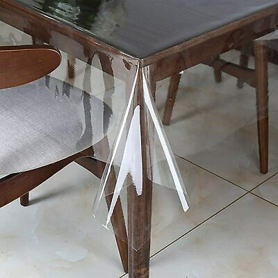 £6.54 • Buy Clear PVC Tablecloth For Office Table Dining Table Coffee Table Easy Wipe