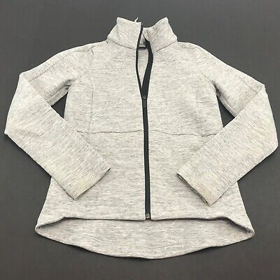$ CDN63.93 • Buy Lululemon Womens Full Zip Jacket Grey Stand Up Collar Size 2