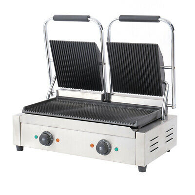 £199.95 • Buy Commercial Panini Grill Press 2 Sided Electric Catering Toaster Sandwich Maker
