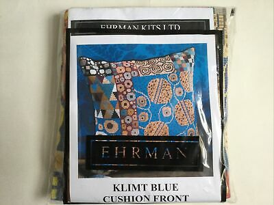 Ehrman Tapestry Kit Klimt Blue Cushion Front By Candace Bahouth NEW SEALED • 85£