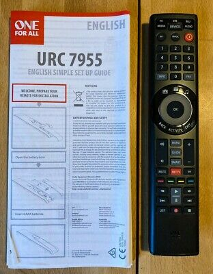 One For All Universal Remote Control (Type URC 7955) • 2.80£