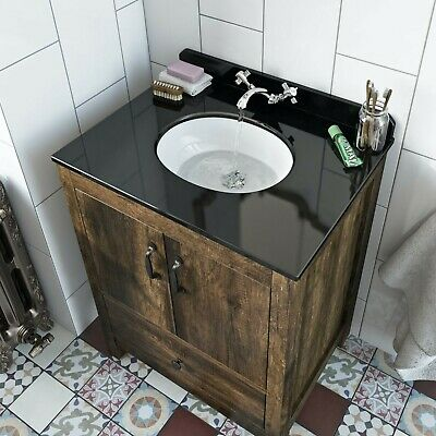 Bath Co Dalston Below Counter Basin With Black Marble Countertop • 35£