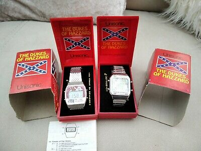 1980s Unisonic Dukes Of Hazzard Car Game And Melody Alarm Wrist Watch Read Desc. • 70£