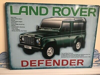 Land Rover Defender - Vintage Advertising Enamel Metal Tin Sign Wall Plaque • 14.99£
