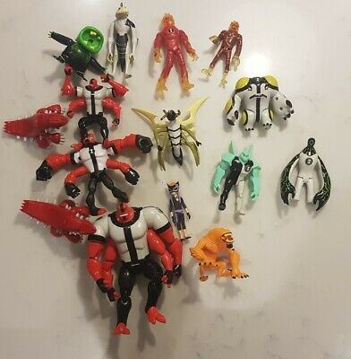 LARGE BUNDLE OF BEN 10 ACTION FIGURES / Characters TOYS CARTOON NETWORK • 8£