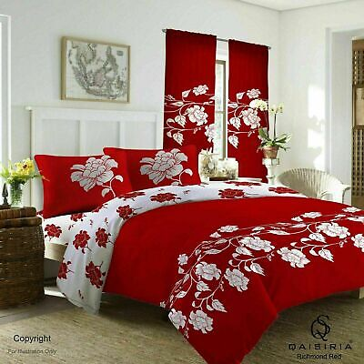 £16 • Buy Complete Bedding Set-Duvet Cover Fitted Sheet Pillow Cases & Matching Curtains