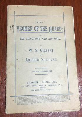 Vintage Opera Booklet The Yeomen Of The Guard By W S Gilbert Arthur Sullivan M3 • 6.99£